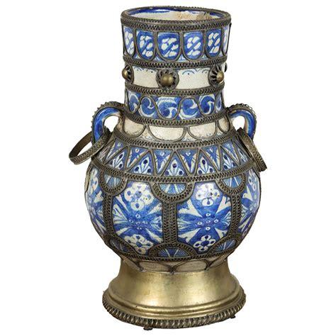 Antique Ceramic Vase by Antique Moroccan Ceramic Vase For Sale At 1stdibs