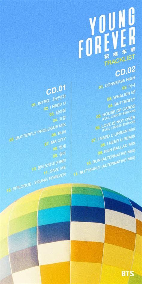 bts album list update bts drops track list for special album quot young