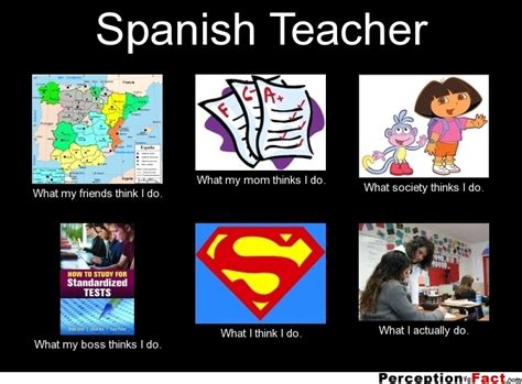 Spanish Teacher Memes - spanish teacher what people think i do what i really