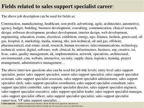 Sales Support Specialist Cover Letter by Top 10 Sales Support Specialist Questions And Answers