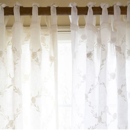 white linen curtain trellis white curtain panel linen voile