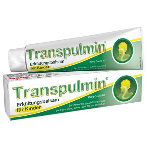 Transpulmin Bb Baby Balsam 20g transpulmin 174 erk 228 ltungsbalsam f 252 r kinder shop apotheke