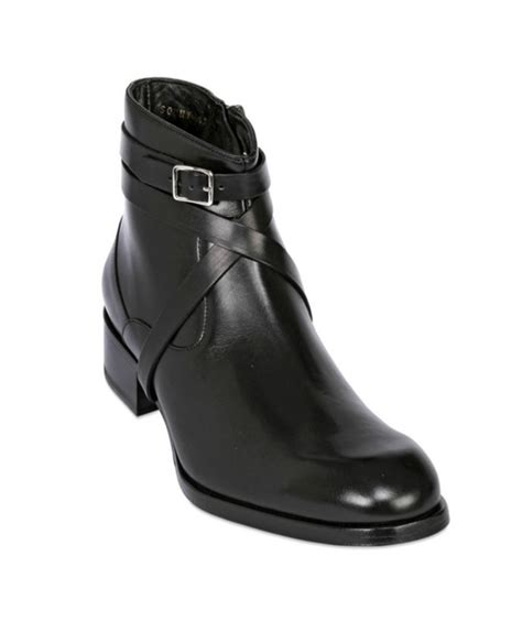 new handmade mens wrap around all leather boots side