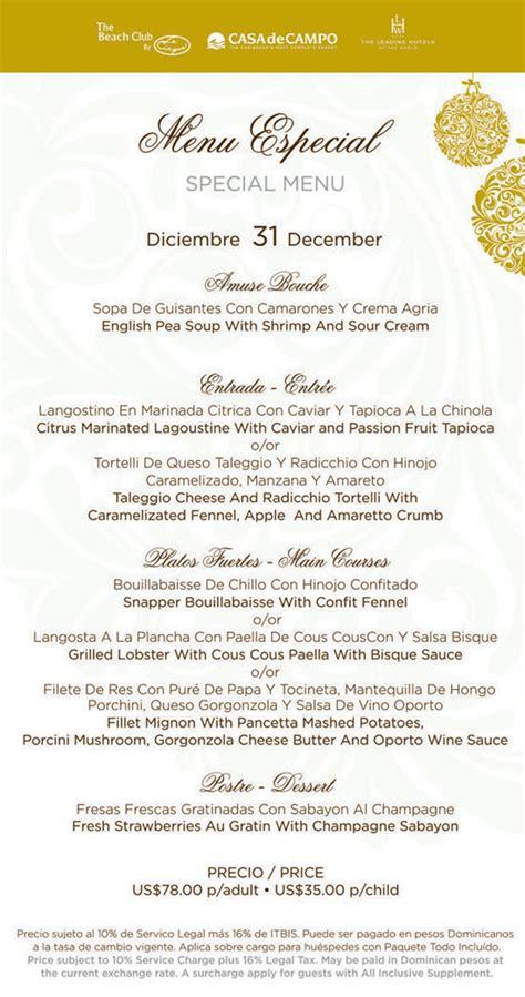 chinois on new year menu casa de co living new years special menus at la