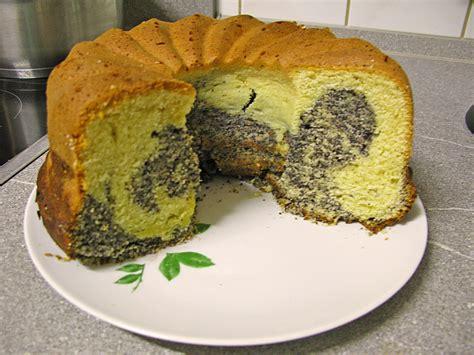 kuchen mit mohnback mohn marmor kuchen rezept mit bild belli