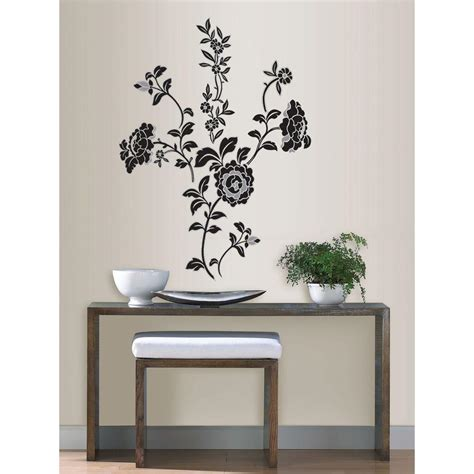 home depot wall decor wallpops 3 5 in x 2 in brocade wall art decal kit