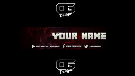 minecraft yt banner template  behance