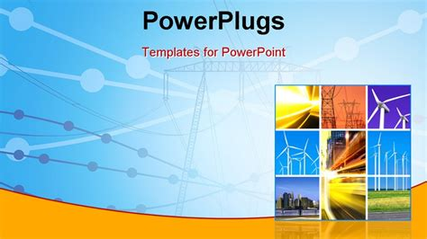 ppt templates free download electrical collage of electric power and innovative energy industry