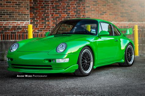 porsche 911 viper green viper green 1996 porsche 993 rs tribute car rare cars