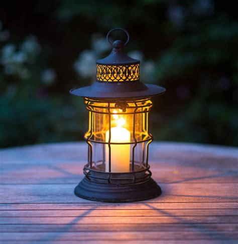 traditional fisherman candle lantern by the flower studio