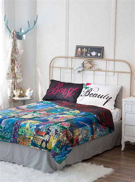 beauty and the beast bedding disney beauty and the beast stained glass full queen comforter hot topic