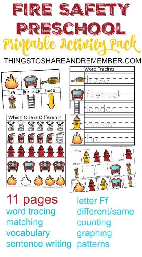 preschool fire safety booklet printables fire safety preschool printable activity pack discover