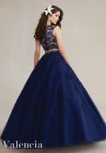 two piece tulle with lace quinceanera dress style 89088