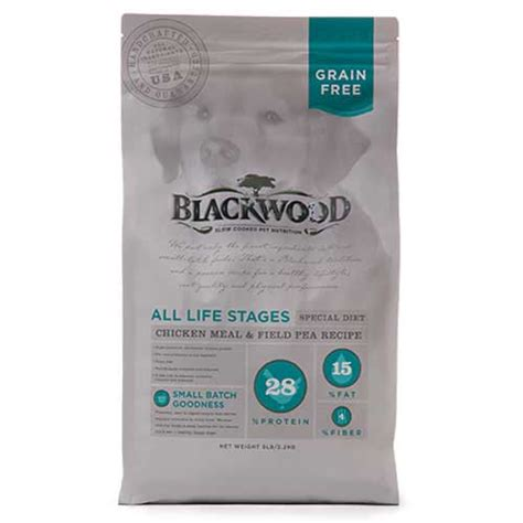 Blackwood All Stage Chicken Meal With Field Pea Grainfree blackwood grain free chicken meal field pea lads pet