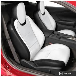 Seat Covers For White Cars Camaro Leather Seat Kit Pearl White