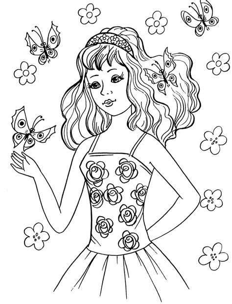 printable coloring pages of a girl coloring pages for girls dr odd