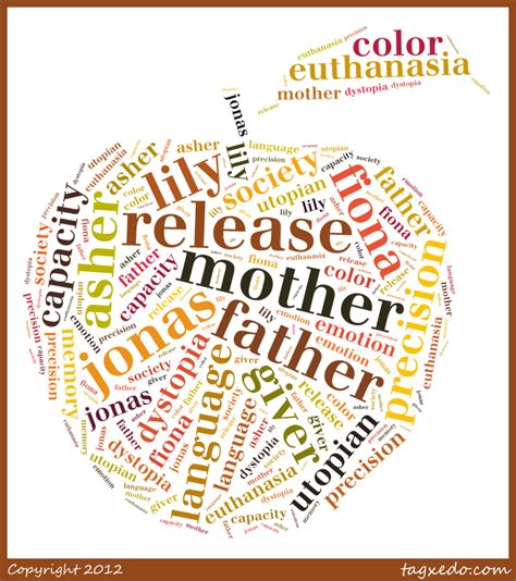 themes in book the giver tagxedo the giver word connections cassie morgan