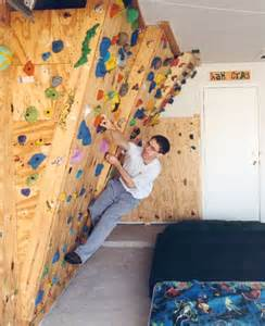 home climbing wall the hahn s homebuilt climbing wall in our garage