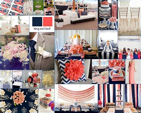 navy blue and coral wedding navy blue and coral wedding decor inspiration navy blue