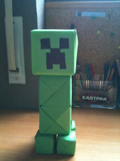 How To Make A Paper Creeper From Minecraft - origami and stuff paper creeper minecraft
