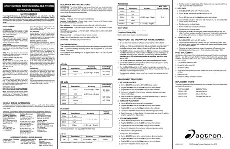 Multitester Manual automobile accessories users guides quot automobile accessories quot page 16