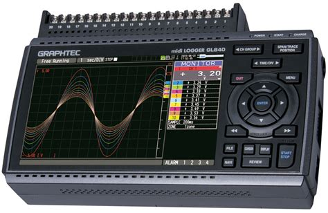 gl multi channel standalone data logger  isolated universal inputs  integrated display