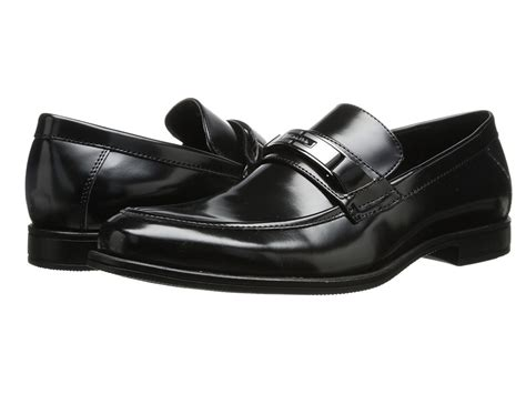 calvin klein armond black box smooth mens slip on dress
