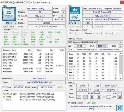 Asus Rog Gl 553 Vd I7 7700hq Ram 16gb Vga Gtx 1050 4gb Win 10 Fhd asus rog strix gl553vd gaming notebook review i7 7700hq gtx 1050 geeks3d
