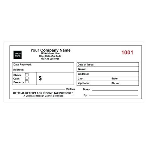 donation receipt template vista print personalized receipt books viqoo club