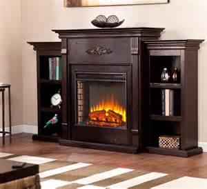 tennyson electric fireplace media console in espresso fe8545