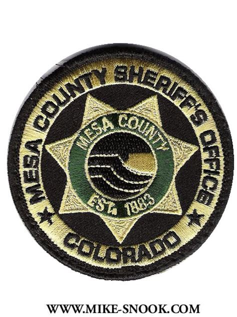 Mesa County Records Mike Snook S Patch Collection Colorado Mesa County