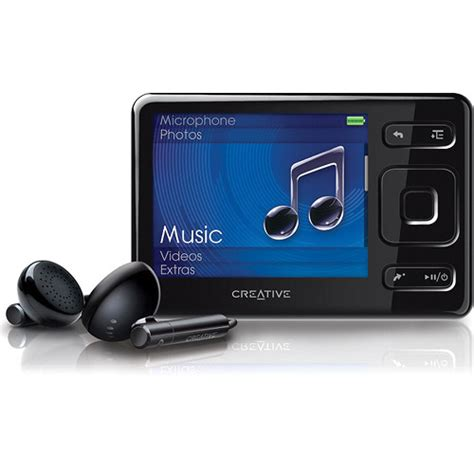 creative labs zen mx mp3 player 16gb black 70pf248100111 b h