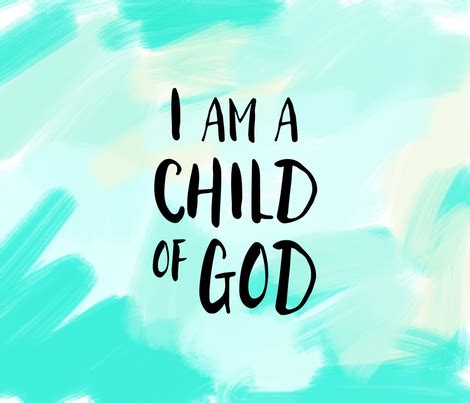 child of god i am a child of god 1 yard brush fabric