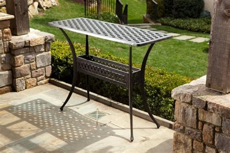 Patio Sideboard Table alfresco home cast aluminum outdoor sideboard console table contemporary buffets and