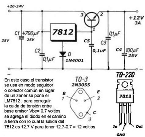 transistor 2n3055 en paralelo como regular voltaje 18 voltioa a 12 v dc yoreparo