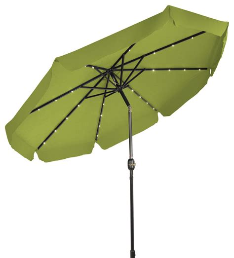 Decorative Patio Umbrellas by Deluxe Solar Powered Led Lighted Patio Umbrella