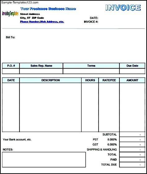 Freelance Template Pdf Freelance Invoice Template In Pdf Format Sle