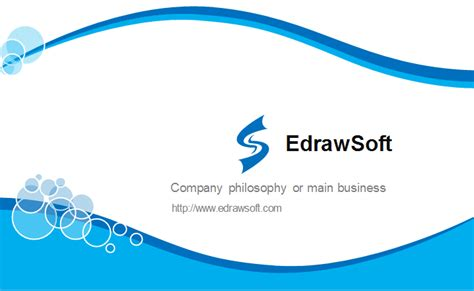 free curve template blue curve business card template