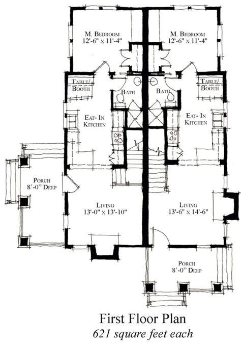 multi family plan 48066 at familyhomeplans com multi family floor plans
