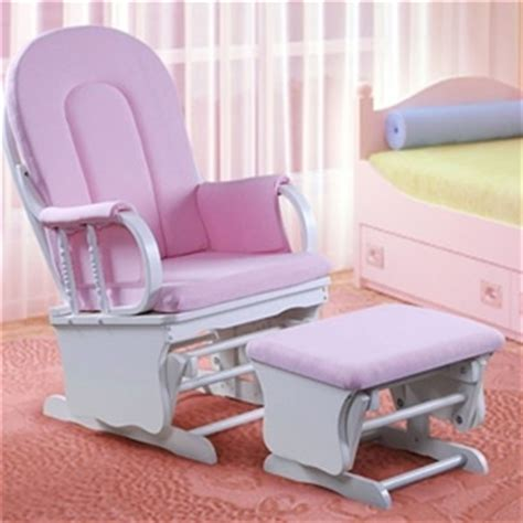 pink and white glider and ottoman glider breast feeding rocking chair with ottoman white