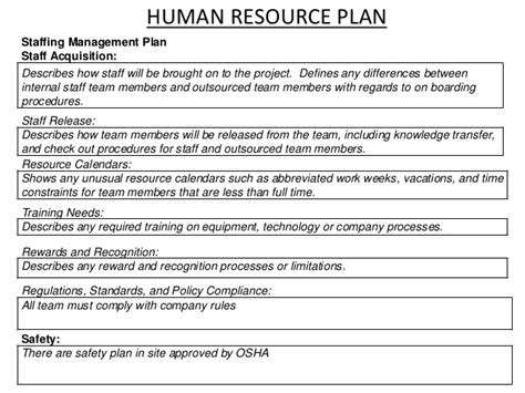 Session 14 4th Edition Pmp Resource Acquisition Plan Template