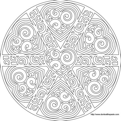 love heart mandala mandala coloring pages pattern