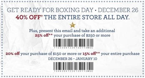 premium outlet printable coupons tommy hilfiger canada boxing day printable coupon