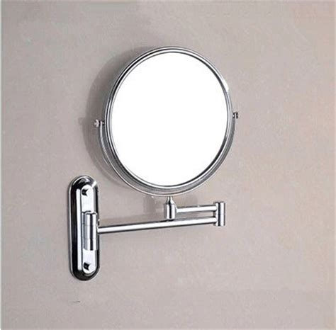 magnifying bathroom mirrors wall mounted brass finish wall mounted bathroom two sides magnifying