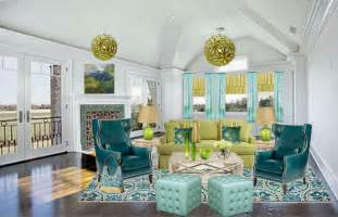 blue and green living room ideas luxefactor decor by levette w