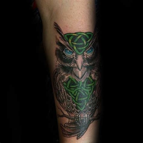 owl tattoo celtic 30 celtic owl tattoo designs for men knot ink ideas