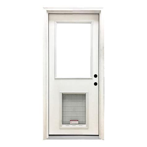 30 Exterior Doors Steves Sons 30 In X 80 In Premium Lite Primed White Fiberglass Prehung Front Door Fgfl