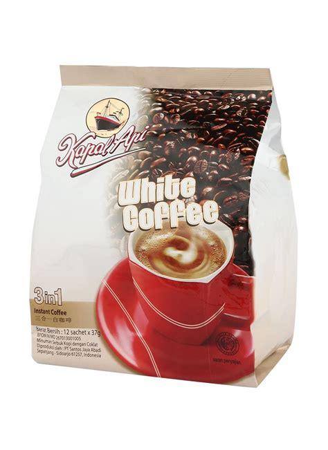 Kapal Api Grande White Coffee Topping Bag kapal api kopi instant 3 in 1 white coffee bag 12x37g klikindomaret