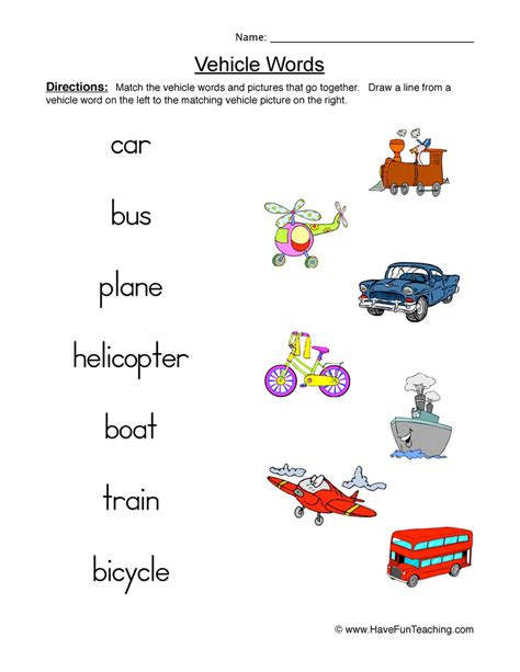 Car Types Word Search by Resources Social Studies Transportation Worksheets