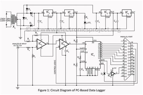 pcb layout job description gt circuits gt pc based data logger circuit description with